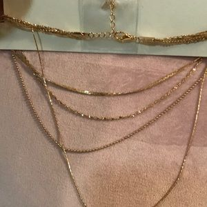 Francesca's Collections Jewelry - 5 Layers Gold necklaces